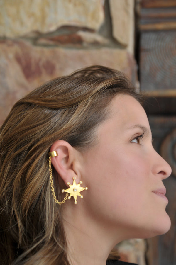 Star of Condestable Ear cuff Gold