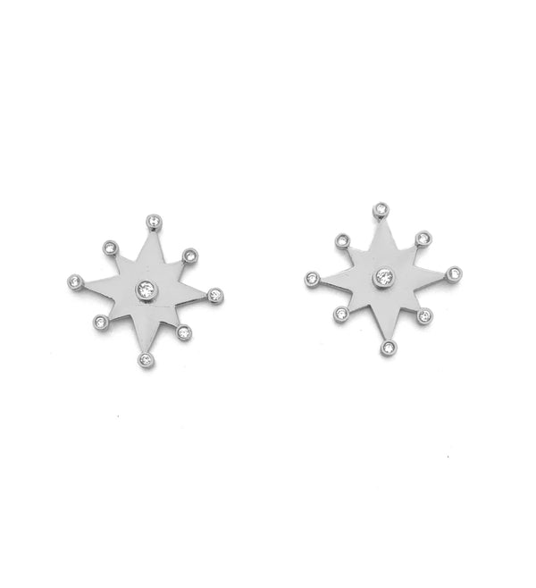 Star of Condestable Chapel Earrings | CAVI online Clothing Boutique | Hand made silver jewelry