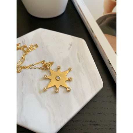 Shiny Star Necklace- CAVI online boutique- Handmade Jewelry