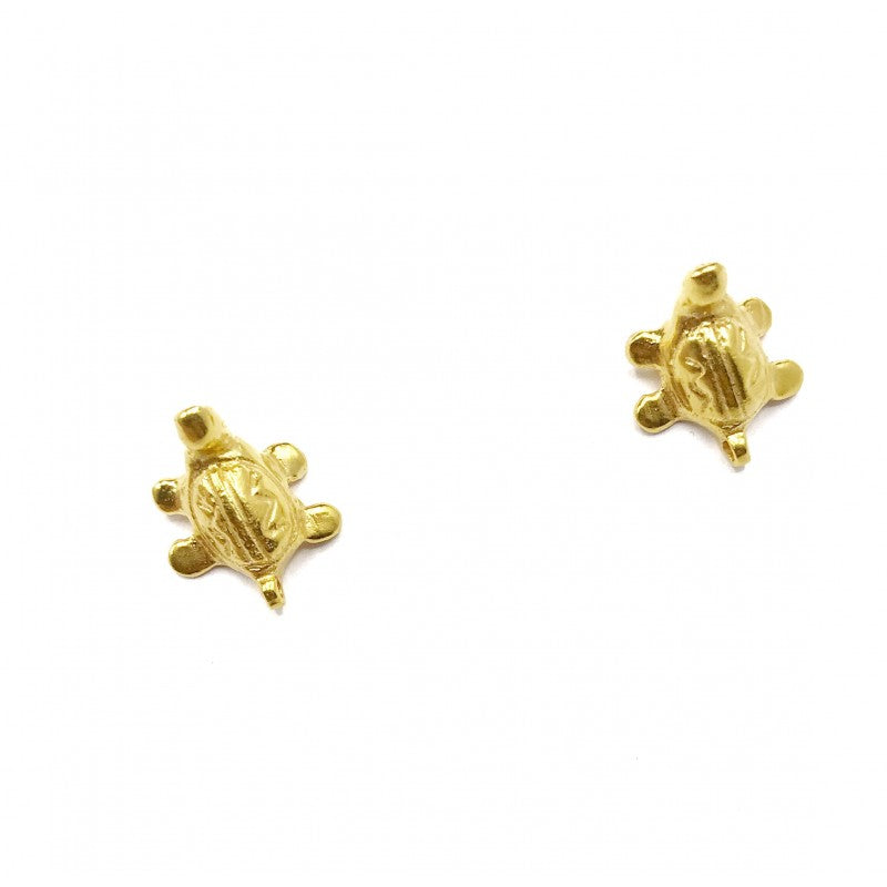 Turtle Gold Earrings- CAVI Online Clothing Boutique- Colombian Handmade Jewelry