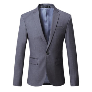Cotton Solid Business Blazer