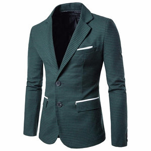 Slim Fit Two Button Men's Blazer