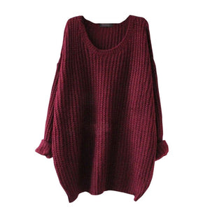 O-neck Women Solid Pullover Sweater