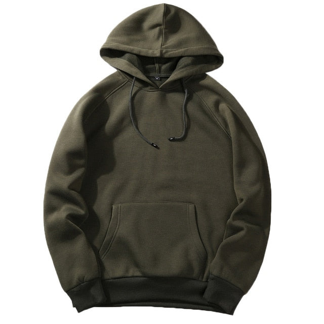 Casual Solid Loose Fleece Hoodies