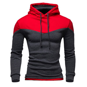 Patchwork Male Casual Hoodies