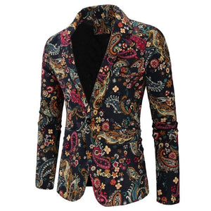 Slim Fit Floral Men Blazer