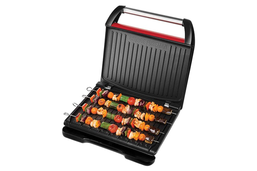 GEORGE FOREMAN 25050 7 Portion Steel Entertaining Grill - Red