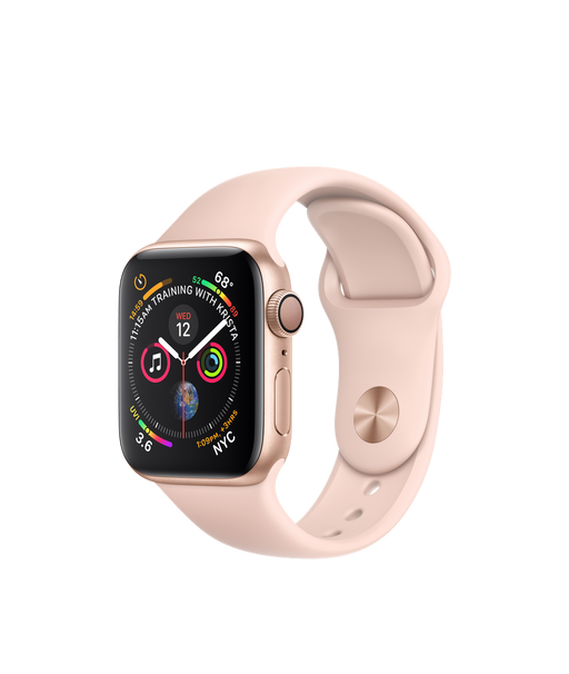 Apple Watch Series 4 (GPS), 40mm Gold Aluminium Case with Pink Sand Sport Band