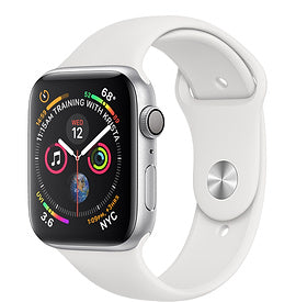 Apple Watch Series 4 (GPS), 40mm Silver Aluminium Case with White Sport Band