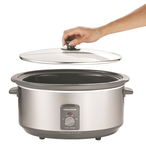 Morphy Richards - Oval brushed stainless steel slow cooker 6.5L 48718