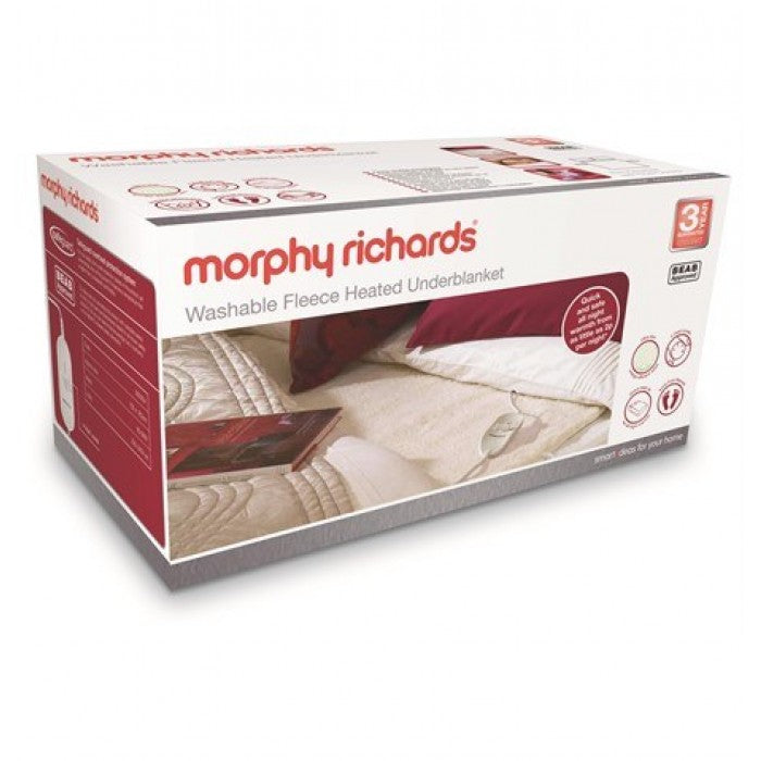 Morphy Richards 600014, Fleece, King Size, Dual Control, Under Blanket