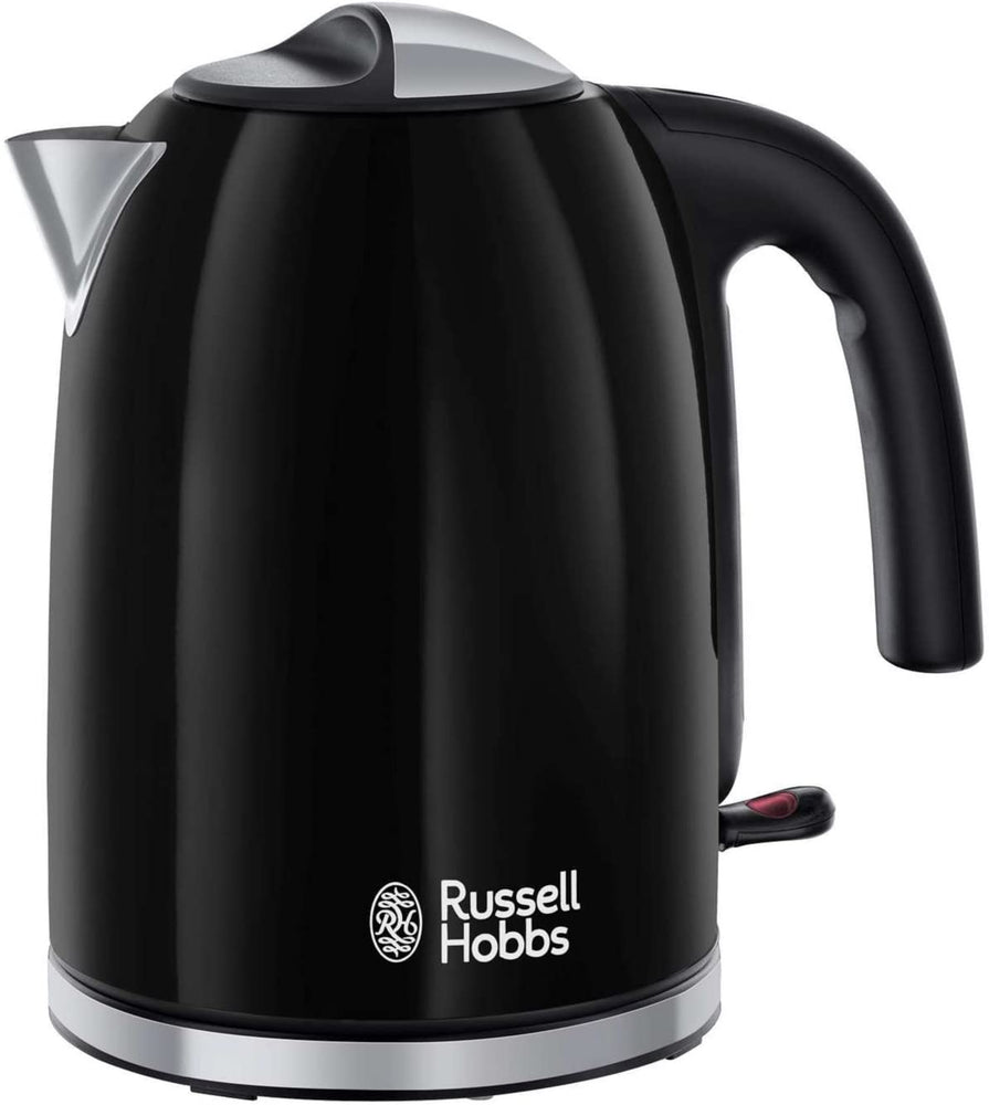 Russell Hobbs 20413 Colour Plus Kettle, Stainless Steel, 3000 W, 1.7 Litre, Black