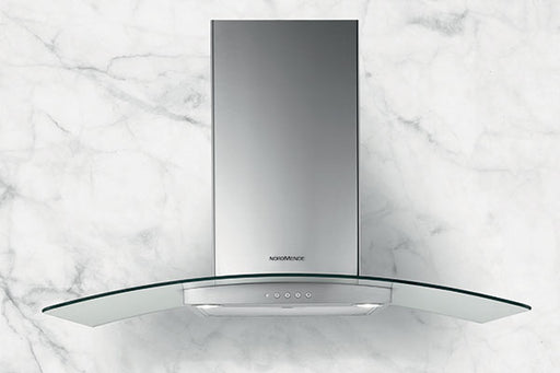 Nordmende CHGLS605IX 60cm Cooker Hood With Curved Glass Canopy - Stainless Steel
