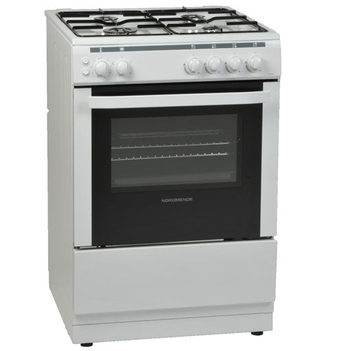 Nordmende CSG63LPGWH 60cm Freestanding LPG Gas Cooker - WhiteFREE 3 YEARS FULL WARRANTY SUBJECT TO REGISTRATION..