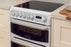 Hotpoint CH60EKWS 60cm Double Oven Electric Cooker With Ceramic Hob White