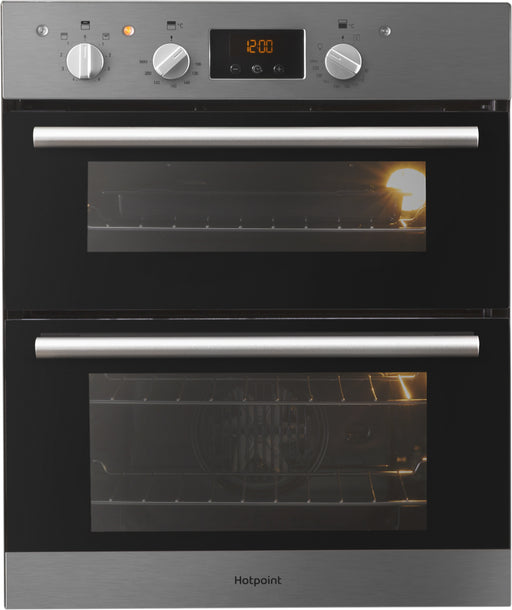 HOTPOINT DU2540IX Luce Electric Built Under Double Oven - Stainless Steel