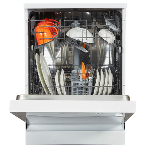 NORDMENDE DW641WH -60CM FREESTANDING DISHWASHER, WHITE. Free3 years warranty.