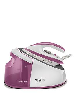 Morphy Richards Speed Steam Generator Iron 333201 - White/Pink
