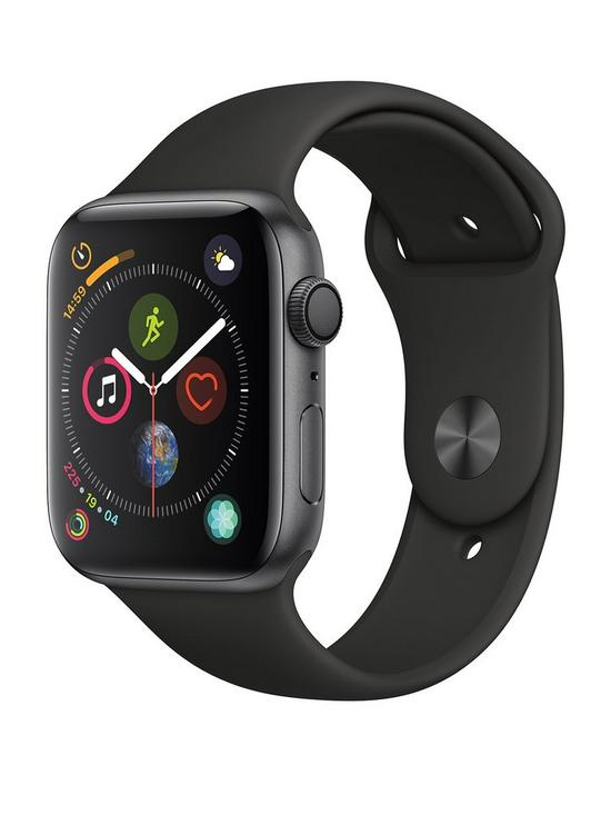 Apple Watch Series 4 (GPS), 44mm Space Grey Aluminium Case with Black Sport Band
