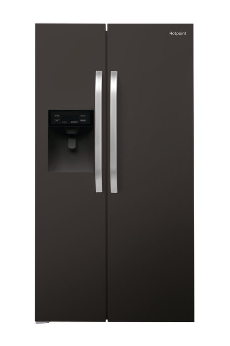 Hotpoint Side-by-Side Black American Fridge Freezer SXBHE925WD-Frost Free Black