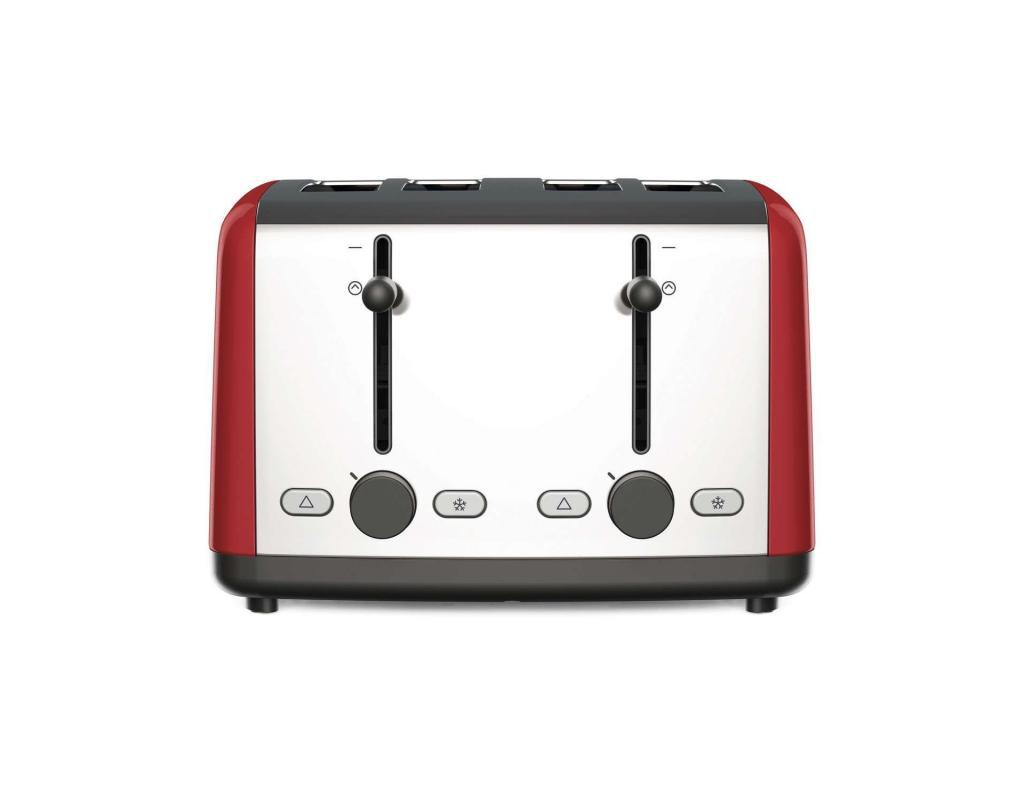 KENWOOD Scene 4 Slot Toaster Red TTM480