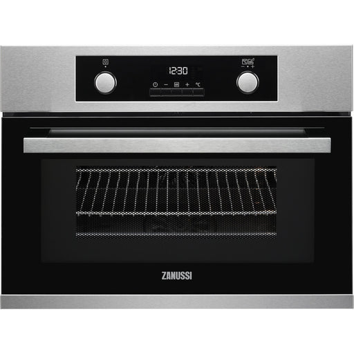 Zanussi ZKK47902XK Compact Multifunction Oven With Microwave Antifingerprint Stainless Steel