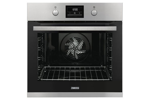 Zanussi ZOP37982XK 60cm  Multifunction Single Oven With Pyrolytic Cleaning - Stainless Steel