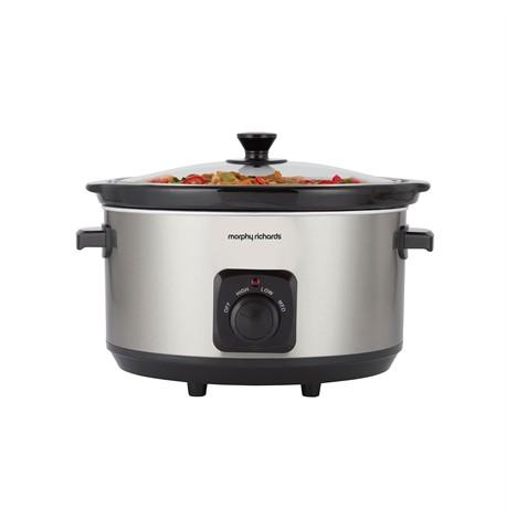 Morphy Richards Brushed Stainless Steel 6.5L Ceramic Slow Cooker | 461013