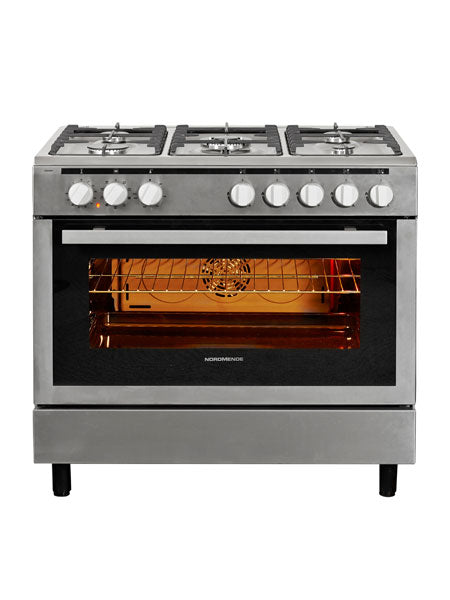 Nordmende CSG92IX 90cm Single Oven Dual Fuel Range Cooker - Stainless Steel. FREE 3 YEARS FULL WARRANTY SUBJECT TO REGISTRATION.