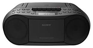 Sony CD & Cassette Boombox with Radio - Black CFDS70B.CEK