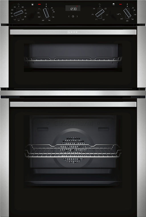 Neff Built-In Electric Double Oven with CircoTherm - Black | U1ACE5HN0B