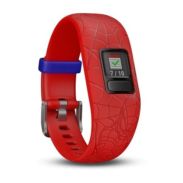 Garmin Vivofit Jr. 2 Marvel Spider-Man Kids Fitness Activity Tracker, Red