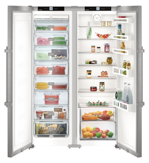 Liebherr SBSef7242 Comfort A++ Side-by-side American Fridge Freezer Silver With Stainless Steel Door
