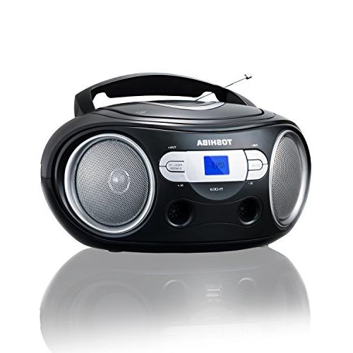 Toshiba Portable CD Boombox with AM/FM Stereo and Aux Input TYCRS9 Black