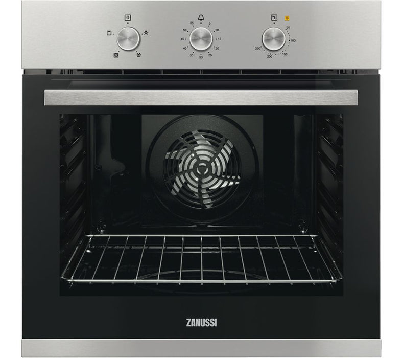 Zanussi ZOB31471XK Single Fan Oven With Minute Minder - Stainless Steel