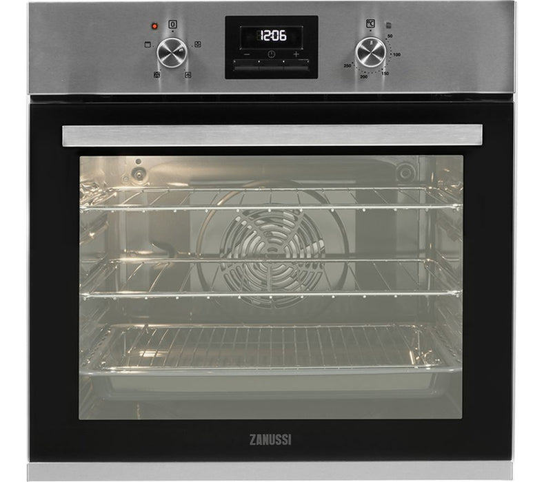 Zanussi ZOB35471XK Mutlifunction Electric Single Oven With Touch Control Programmable Timer - Stainless Steel