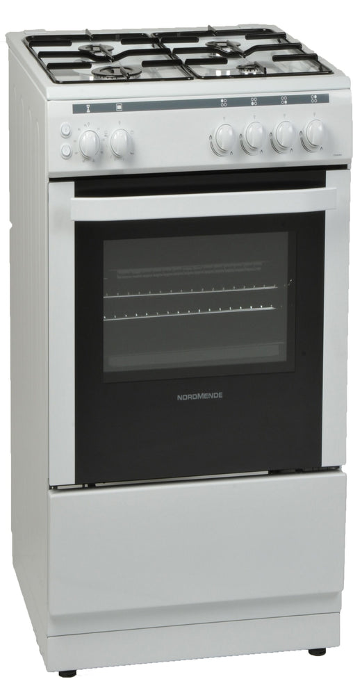 NORDMENDE CSG52LPGWH Gas Single Cavity LPG Freestanding White 50cm Cooker. FREE 3 YEARS FULL WARRANTY SUBJECT TO REGISTRATION.