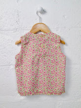 Load image into Gallery viewer, floral smocked top / 4T