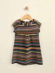 striped dress / 6Y