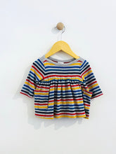 Load image into Gallery viewer, rainbow stripe dress set / 0-3m