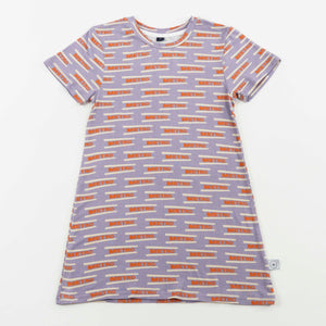 tshirt dress - metro periwinkle