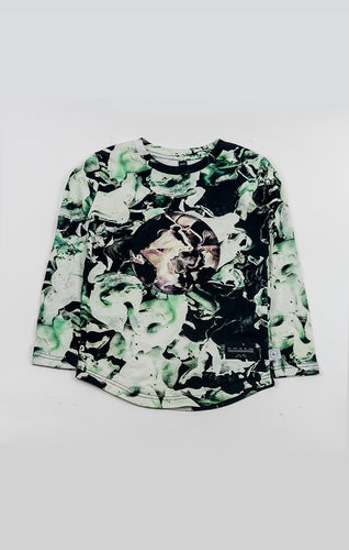 long sleeve tee - fungi emerald