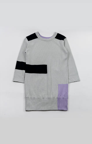 agatha cub knit dress - concrete