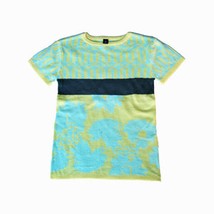 knit t-shirt - mint sun