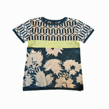 Load image into Gallery viewer, knit t-shirt - peach charcoal
