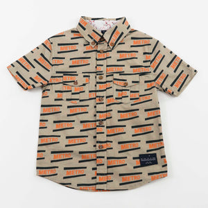 button down shirt - metro mushroom
