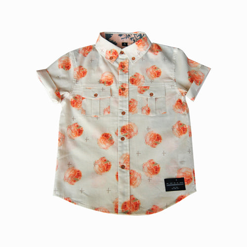 button down - guava peach
