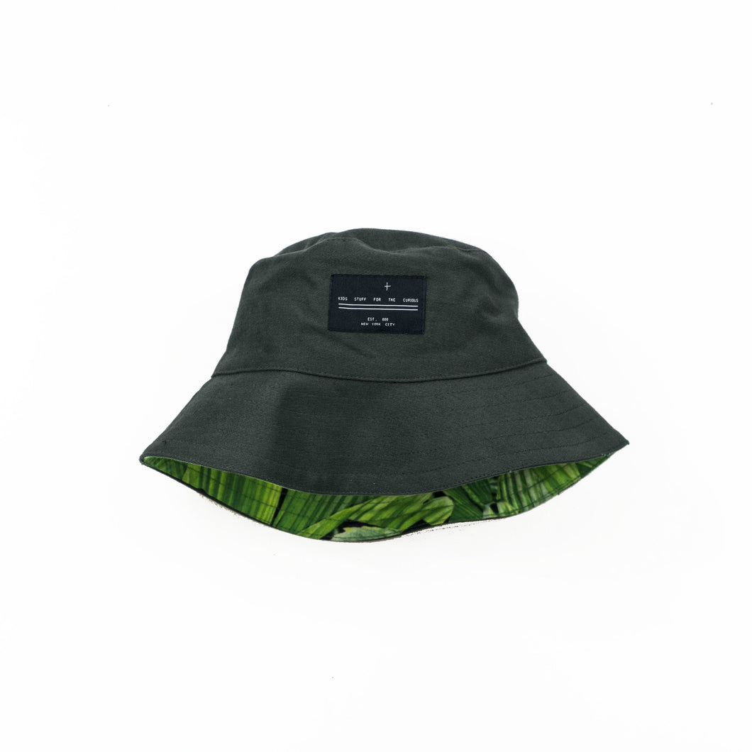2-way bucket hat - charcoal
