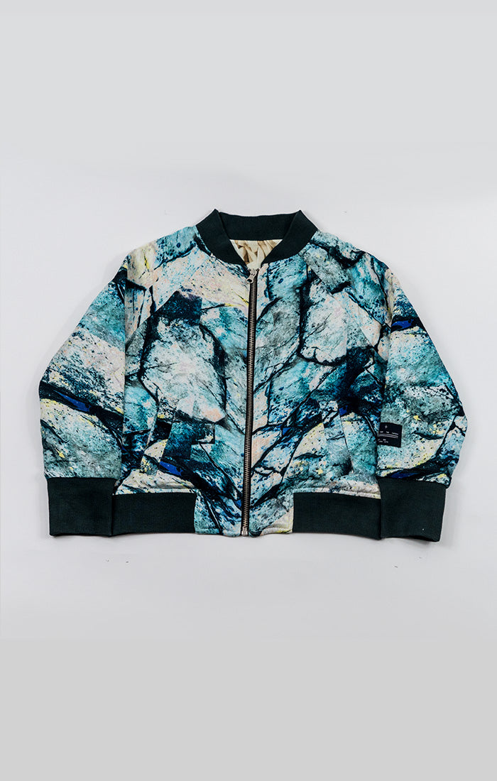 2-way bomber jacket - hex ice