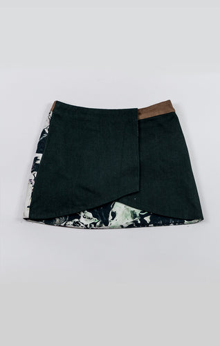 2-way mini skirt - funji lila